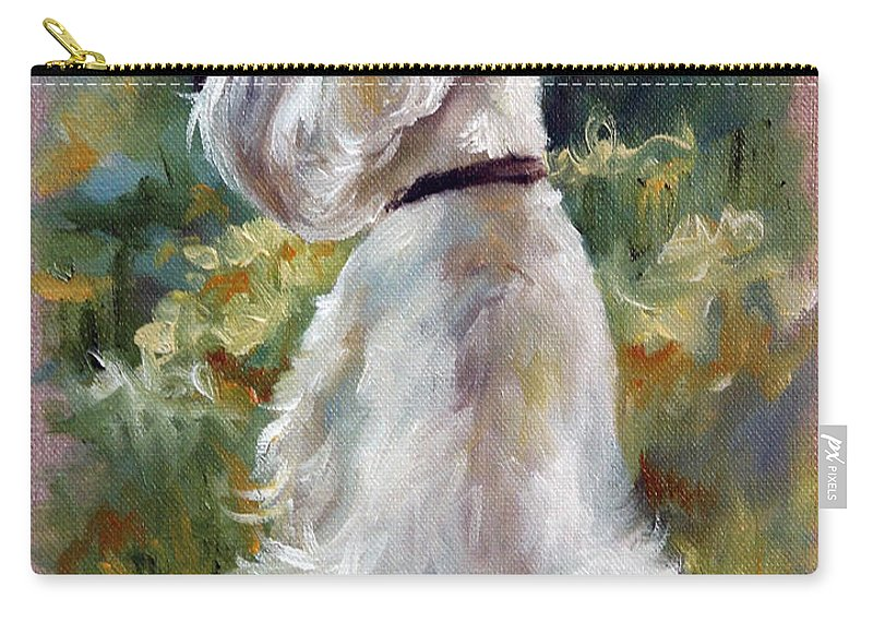 Art Carry-all Pouch featuring the painting Living Color by Mary Sparrow
