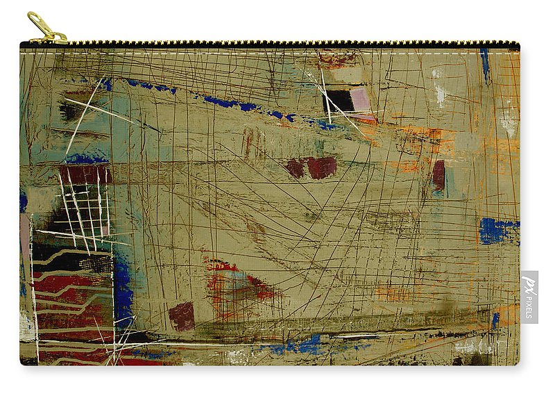 Abstract Carry-all Pouch featuring the painting Living Dangerously by Ruth Palmer