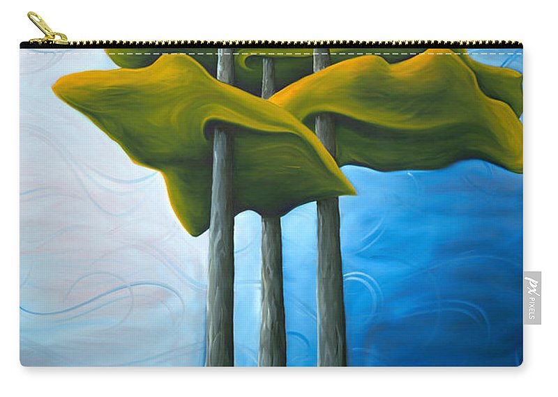 Landscape Carry-all Pouch featuring the painting Living In The Shadow by Richard Hoedl