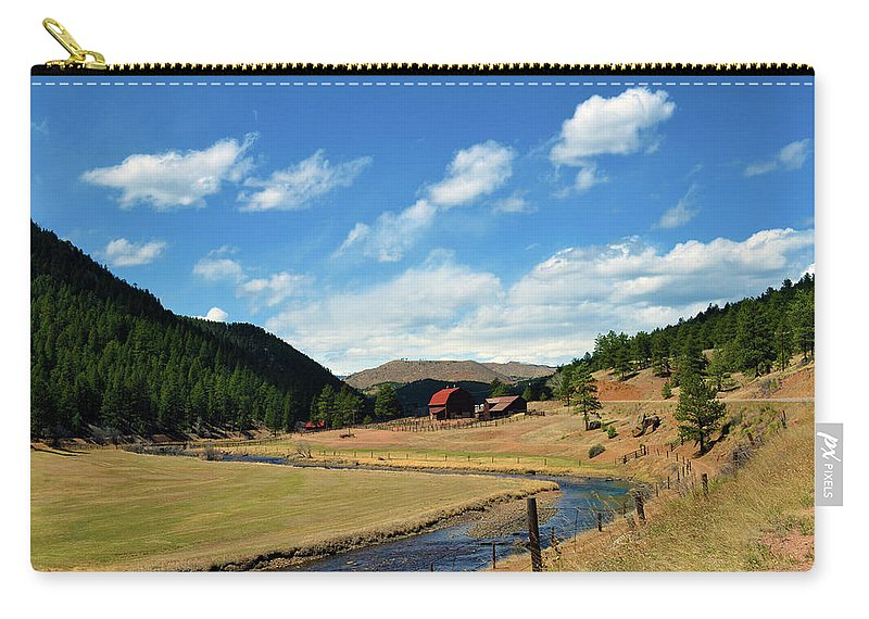 Valley Carry-all Pouch featuring the photograph Living In The Valley by Angelina Tamez