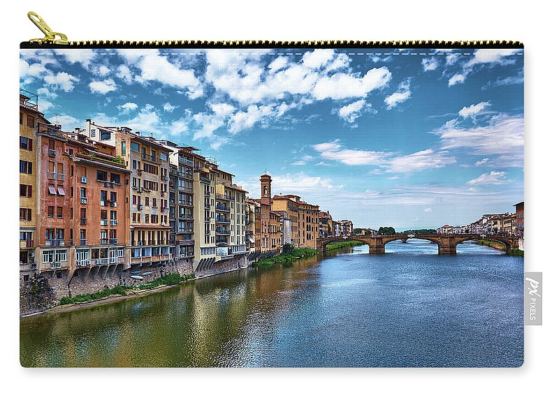Florence Carry-all Pouch featuring the photograph Living Next To The Arno River by Eduardo Jose Accorinti