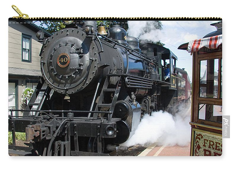 Steam Engine Carry-all Pouch featuring the photograph Living Steam by Bob Kemp