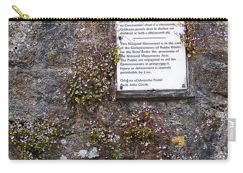 Irish Carry-all Pouch featuring the photograph Living Wall At Donegal Castle Ireland by Teresa Mucha
