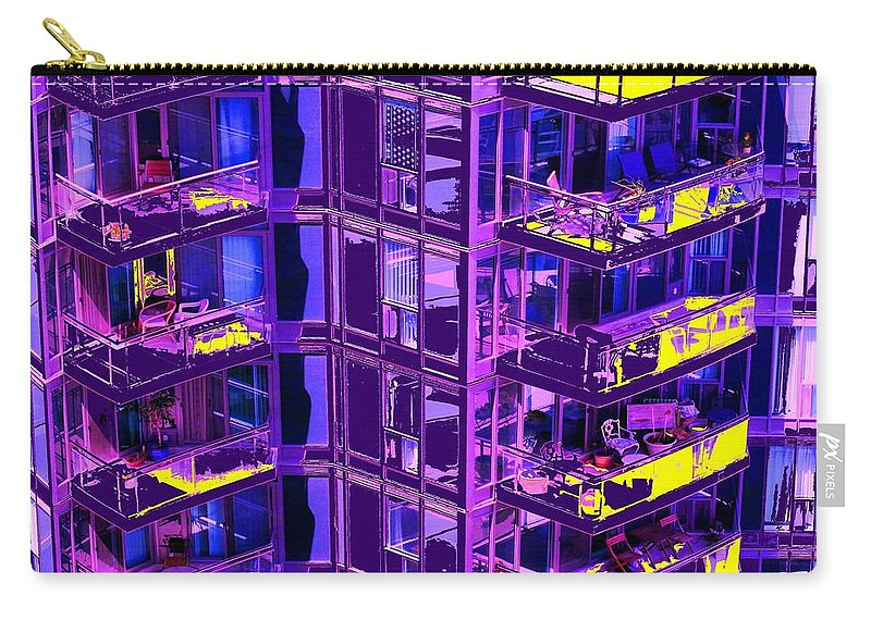 Urban Carry-all Pouch featuring the photograph Living Wall by Ian MacDonald