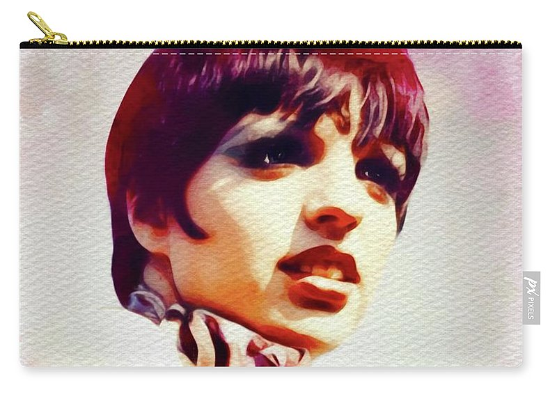 Liza Carry-all Pouch featuring the painting Liza Minnelli, Vintage Movie Star by John Springfield