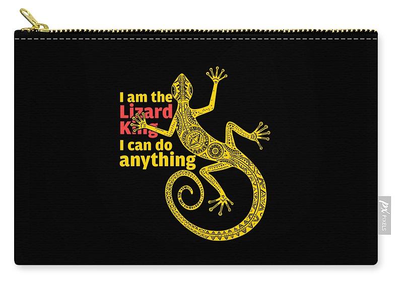 Lizard King Carry-all Pouch featuring the digital art Lizard King by Kalyan