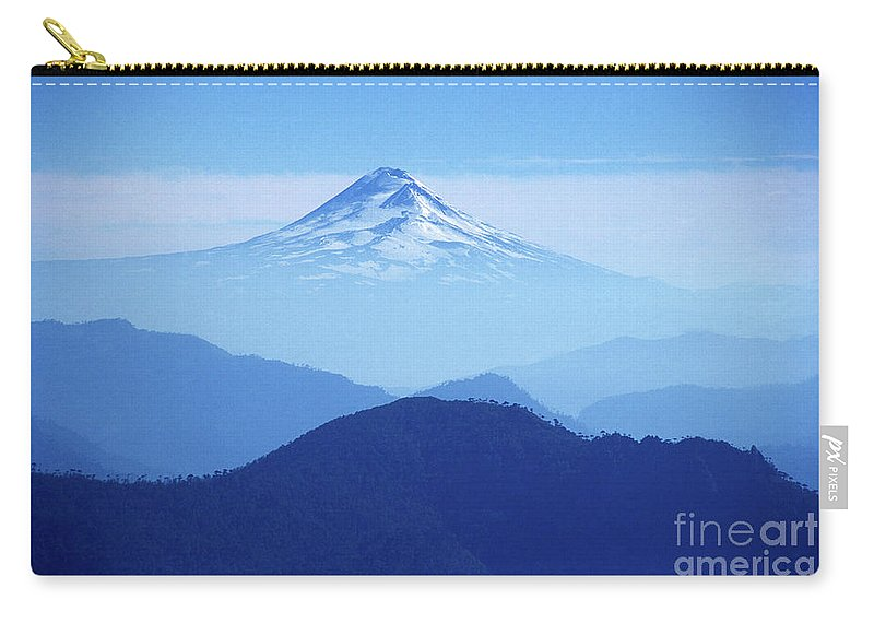 Chile Carry-all Pouch featuring the photograph Llaima Volcano Chile by James Brunker
