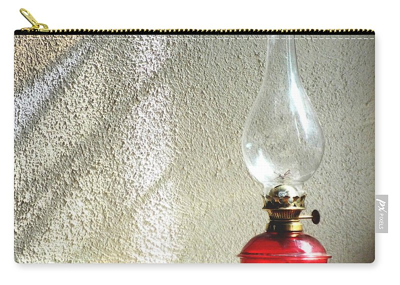 Landrillo Carry-all Pouch featuring the photograph Llandrillo Lamp by Brainwave Pictures