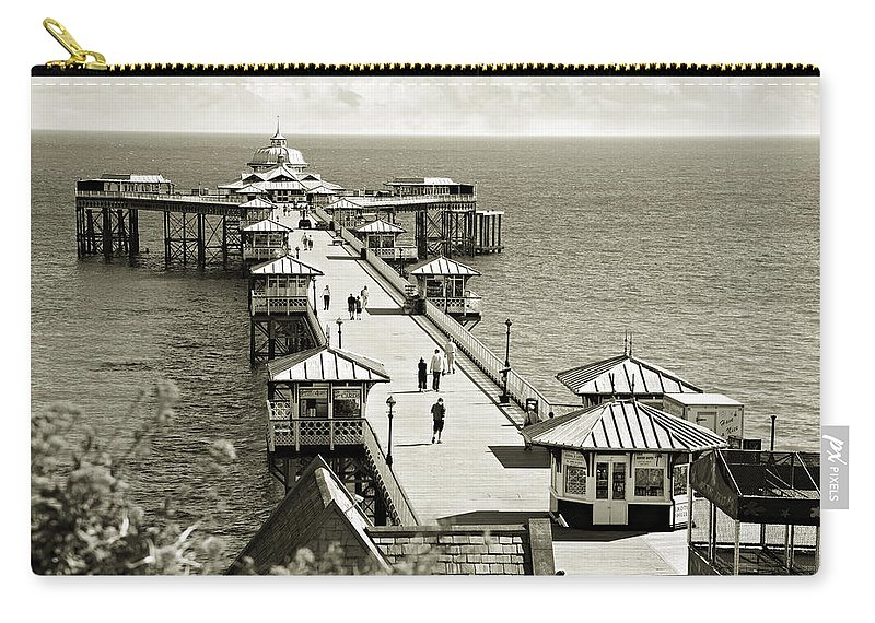 Pier Carry-all Pouch featuring the photograph Llandudno Pier North Wales Uk by Mal Bray
