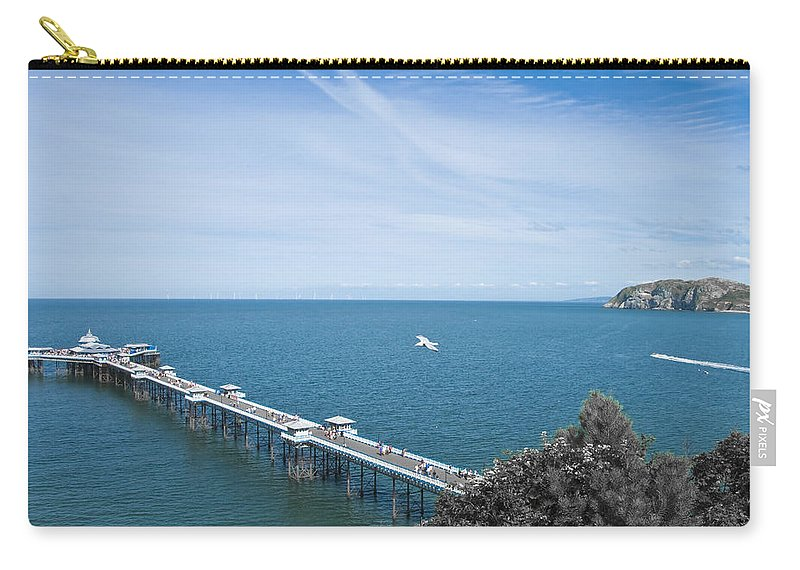 Aqua Carry-all Pouch featuring the photograph Llandudno Pier by Svetlana Sewell
