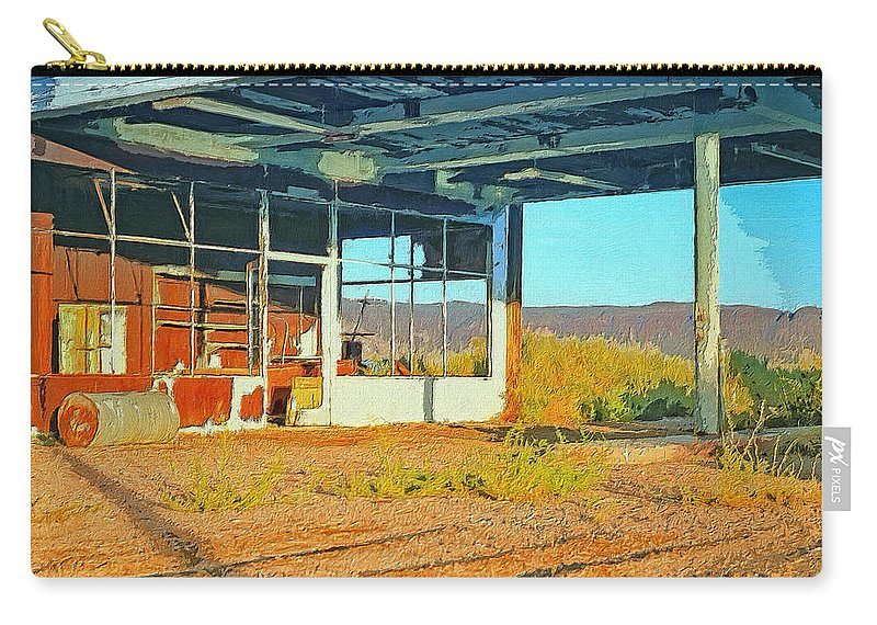 Abandoned Carry-all Pouch featuring the painting Lloyd Ain't Here by Dominic Piperata