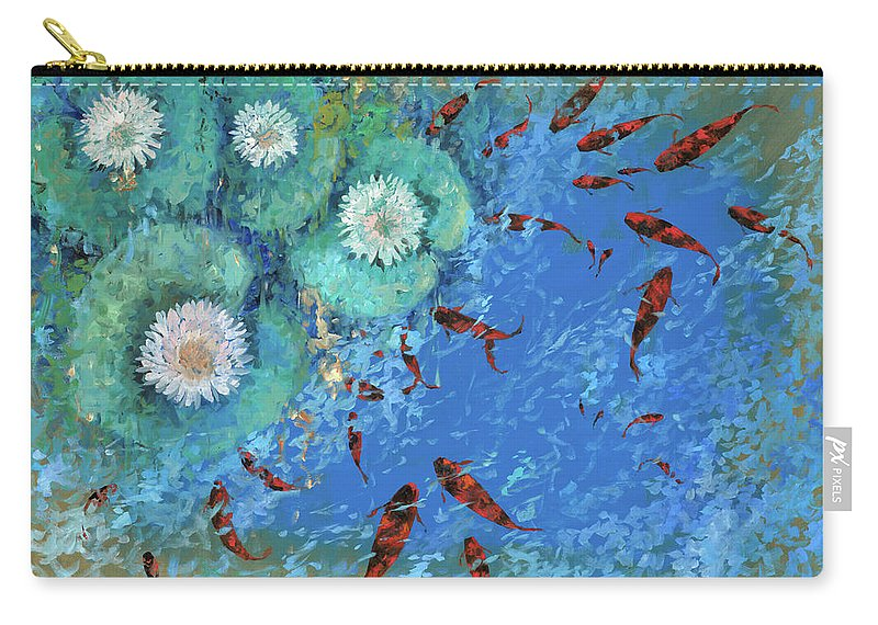 Fishscape Carry-all Pouch featuring the painting Lo Stagno by Guido Borelli