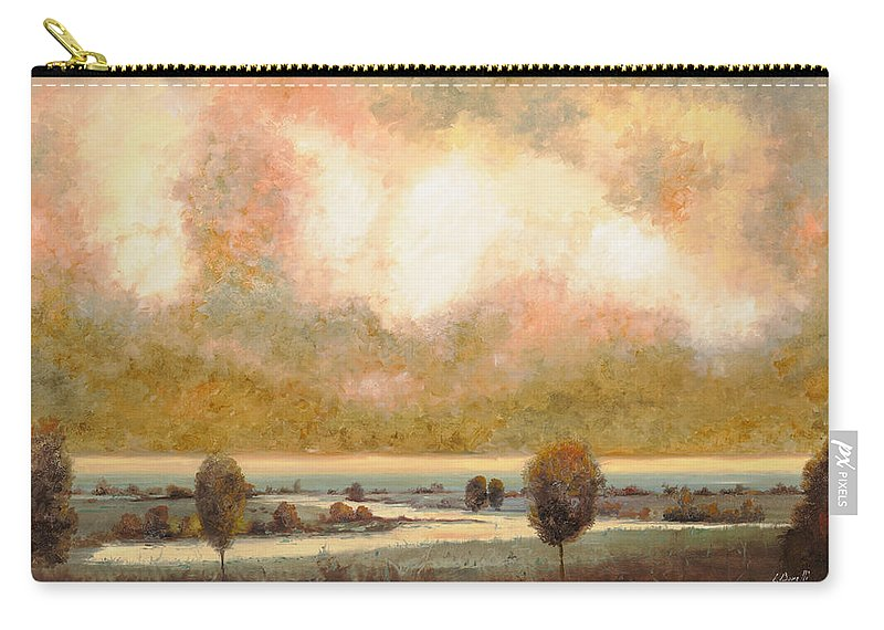 Pond Carry-all Pouch featuring the painting Lo Stagno Sotto Al Cielo by Guido Borelli