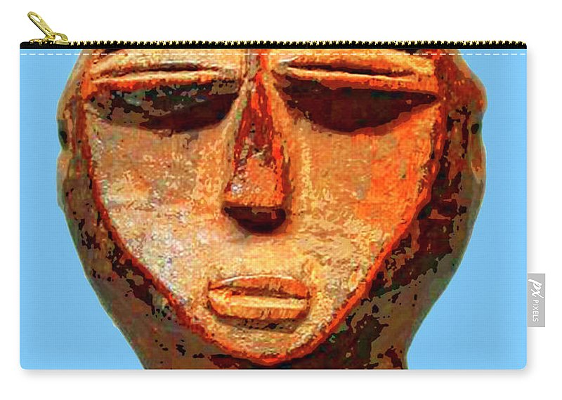 Africa Carry-all Pouch featuring the mixed media Lobi Figure by Dominic Piperata
