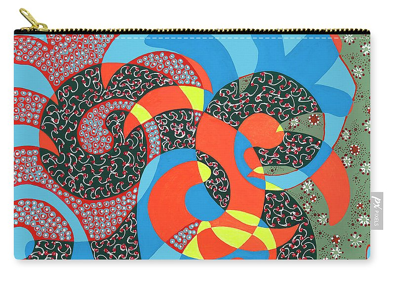 Abstract Carry-all Pouch featuring the painting Lobster Party by Louise Hankes