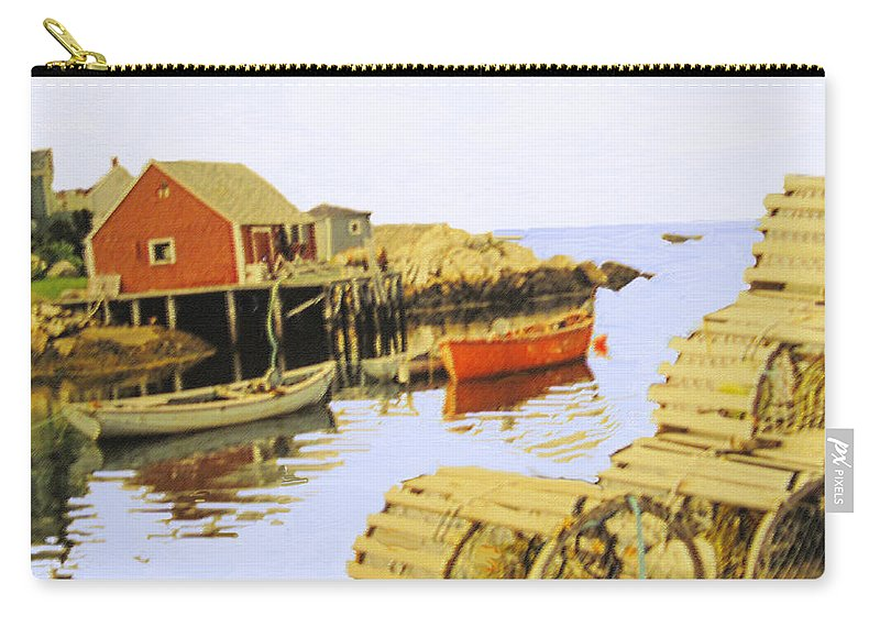 Peggys Cove Carry-all Pouch featuring the photograph Lobster Pots by Ian MacDonald