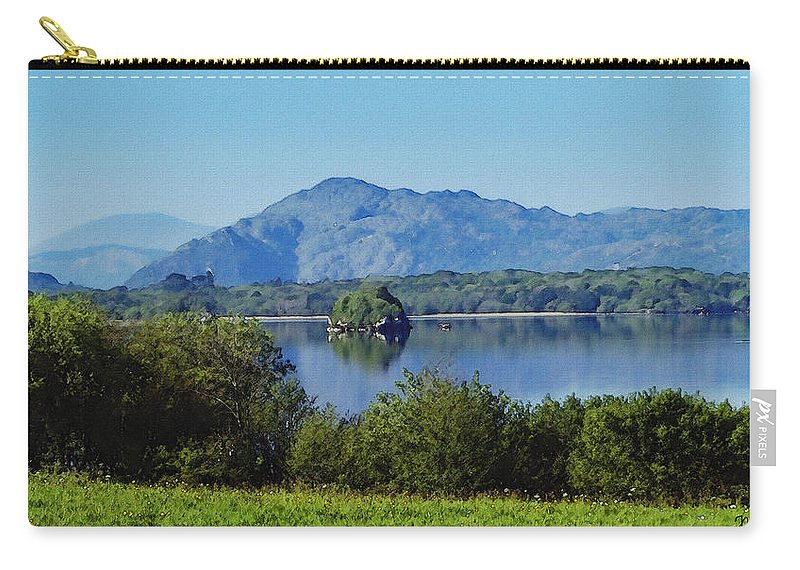 Irish Carry-all Pouch featuring the painting Loch Leanne Painting Killarney Ireland by Teresa Mucha