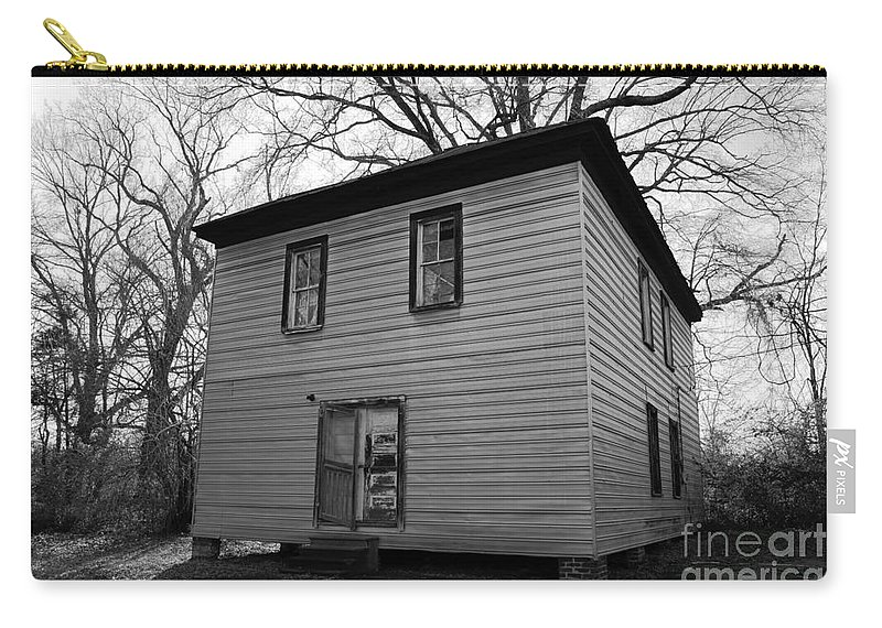 old Buildings Carry-all Pouch featuring the photograph Locked And Open Partially Broken by Amanda Barcon