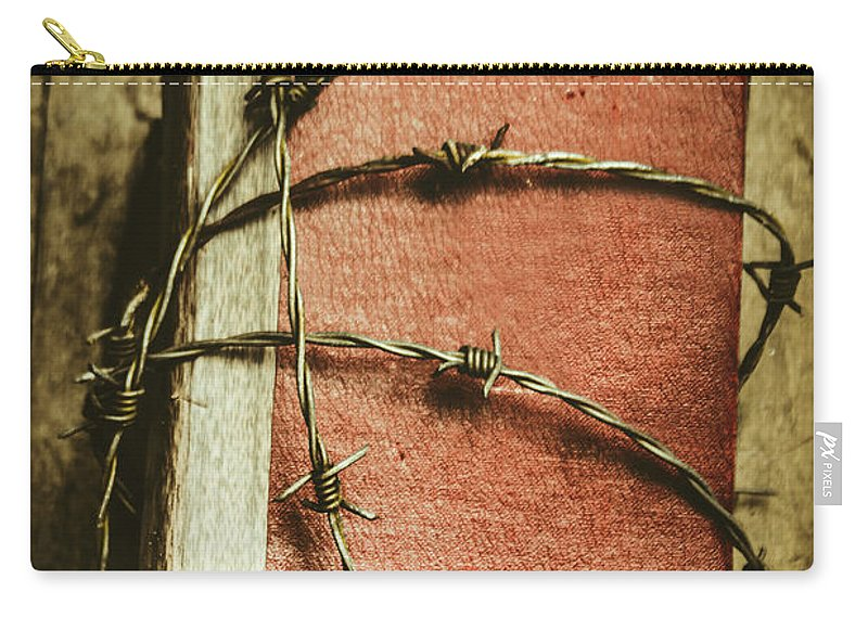 History Carry-all Pouch featuring the photograph Locked Diary Of Secrets by Jorgo Photography - Wall Art Gallery