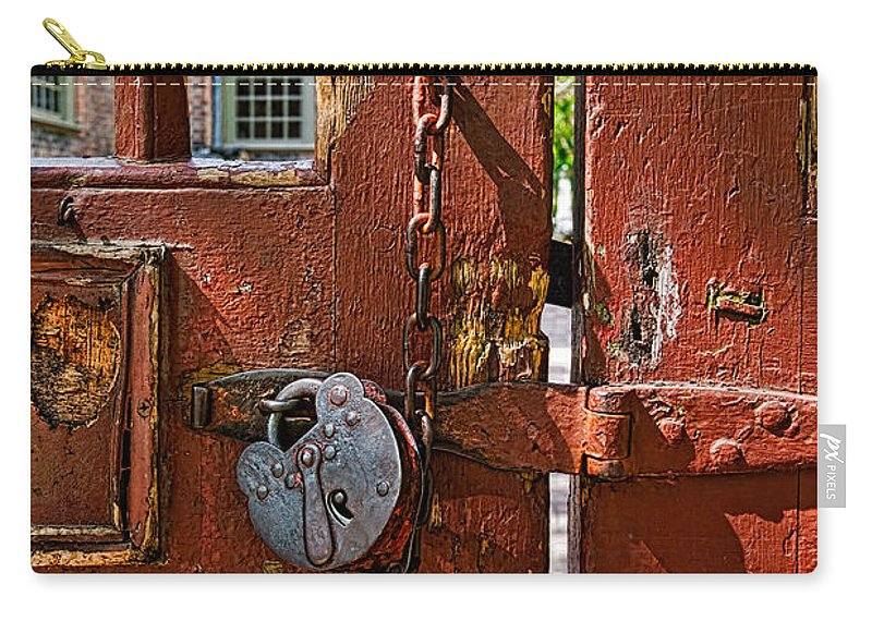 Gate Carry-all Pouch featuring the photograph Locked Gate by Christopher Holmes
