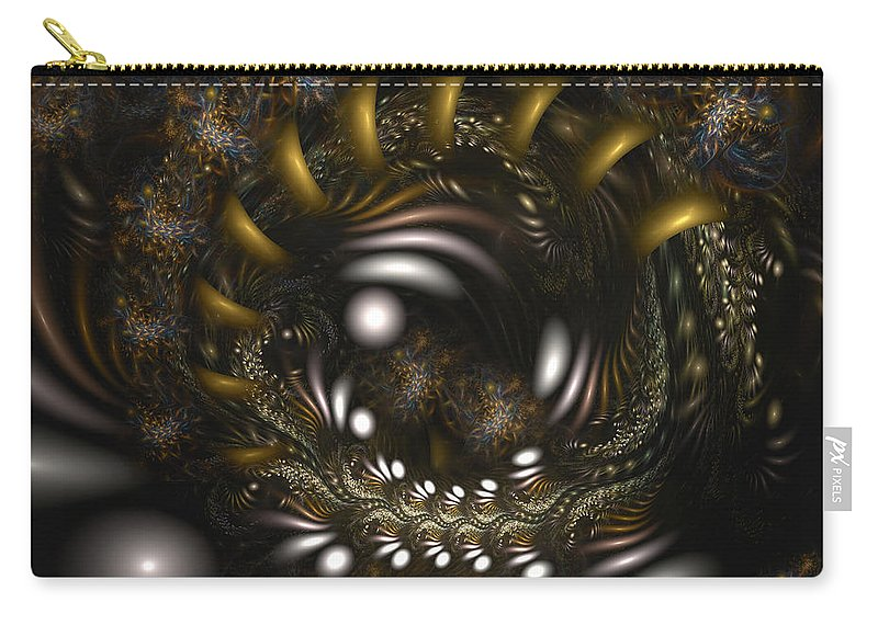Abstract Carry-all Pouch featuring the digital art Locked In Nature's Embrace by Casey Kotas