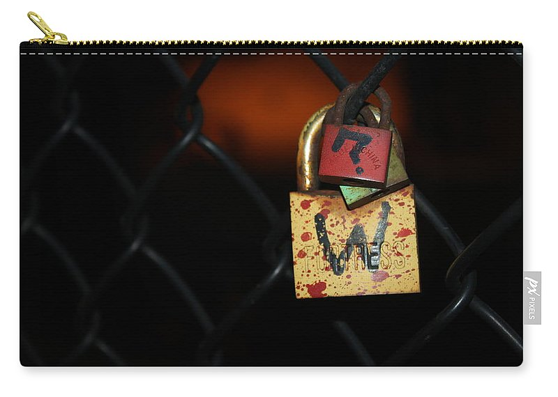 Lock Carry-all Pouch featuring the photograph Locked Questions by Lauri Novak