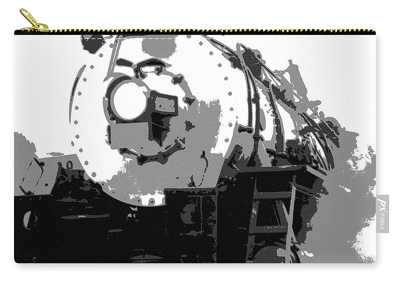Locomotive Carry-all Pouch featuring the mixed media Locomotion by Richard Rizzo