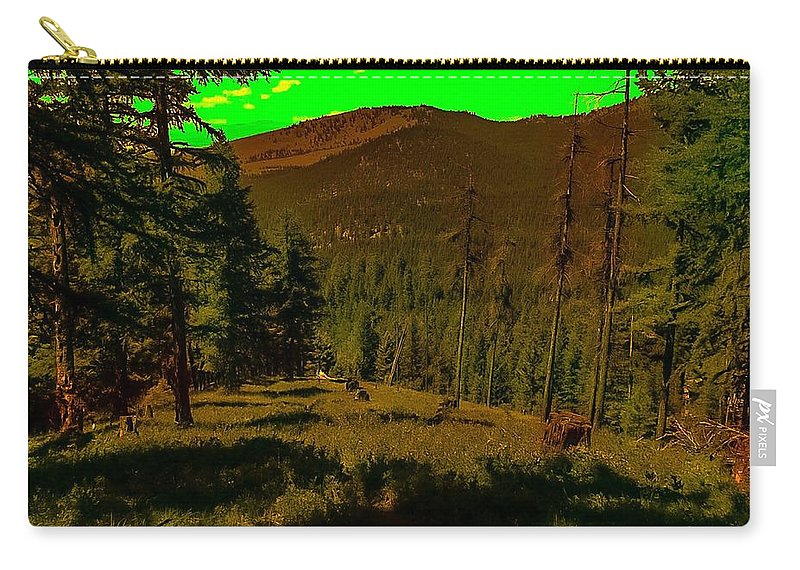 Carry-all Pouch featuring the photograph Lofty Spirit by Dan Hassett