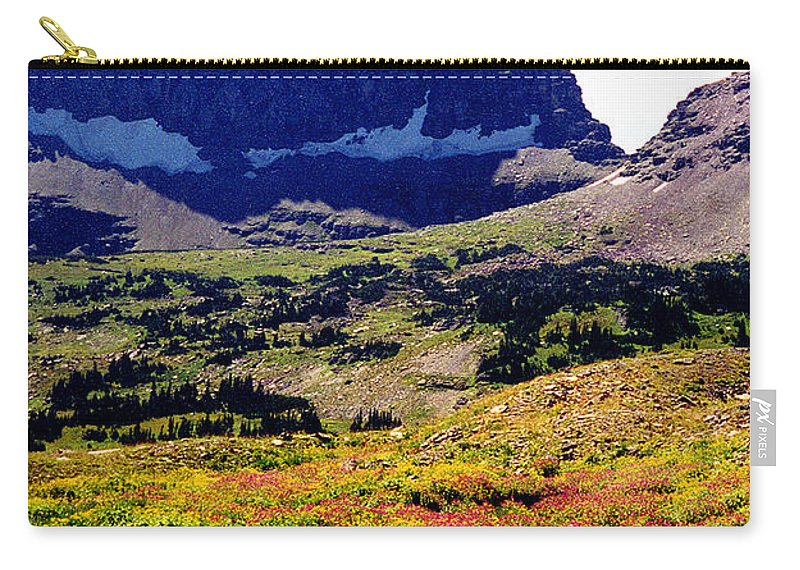 Glacier National Park Carry-all Pouch featuring the photograph Logans Pass In Glacier National Park by Nancy Mueller