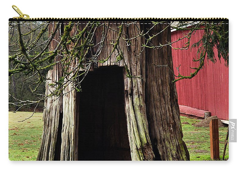 Clay Carry-all Pouch featuring the photograph Loggers Outhouse by Clayton Bruster