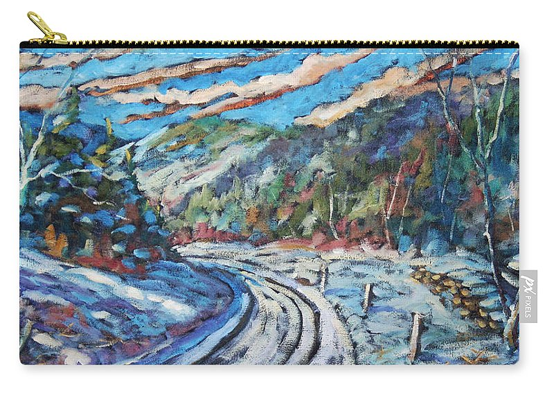Loggers Carry-all Pouch featuring the painting Loggers Road by Richard T Pranke