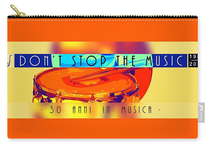 Carry-all Pouch featuring the digital art Logo Rullante Hd by Banda Gabetti