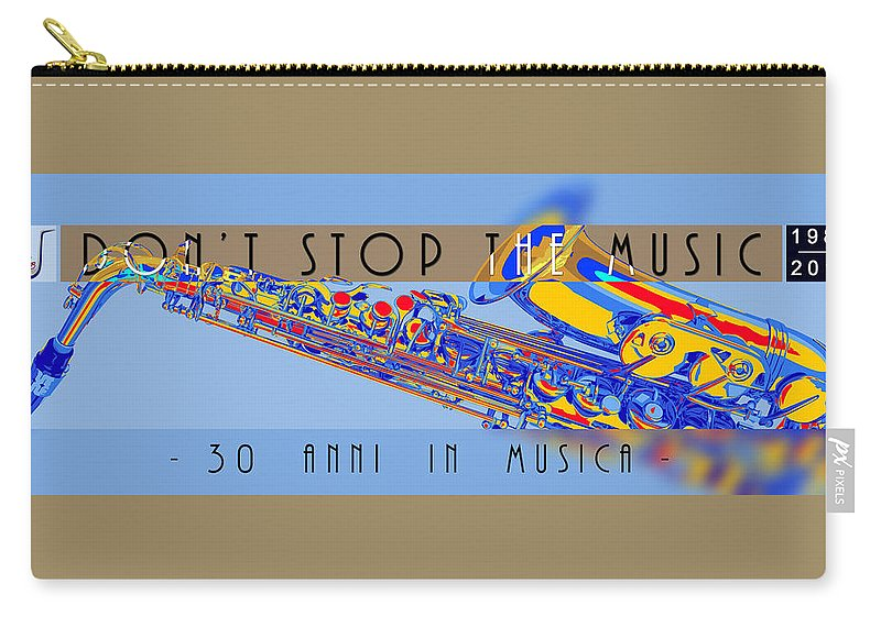 Carry-all Pouch featuring the digital art Logo Sax Hd by Banda Gabetti