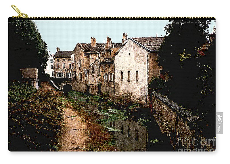 France Carry-all Pouch featuring the photograph Loire Valley Village Scene by Nancy Mueller