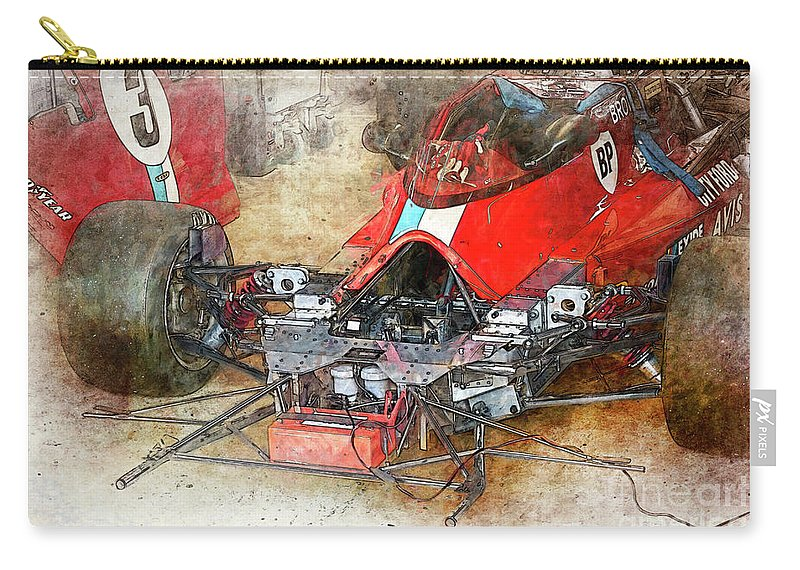Lola Carry-all Pouch featuring the photograph Lola In The Pits by Stuart Row