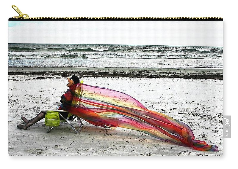 Ocean Carry-all Pouch featuring the photograph Lola's Flair by Pattie Frost
