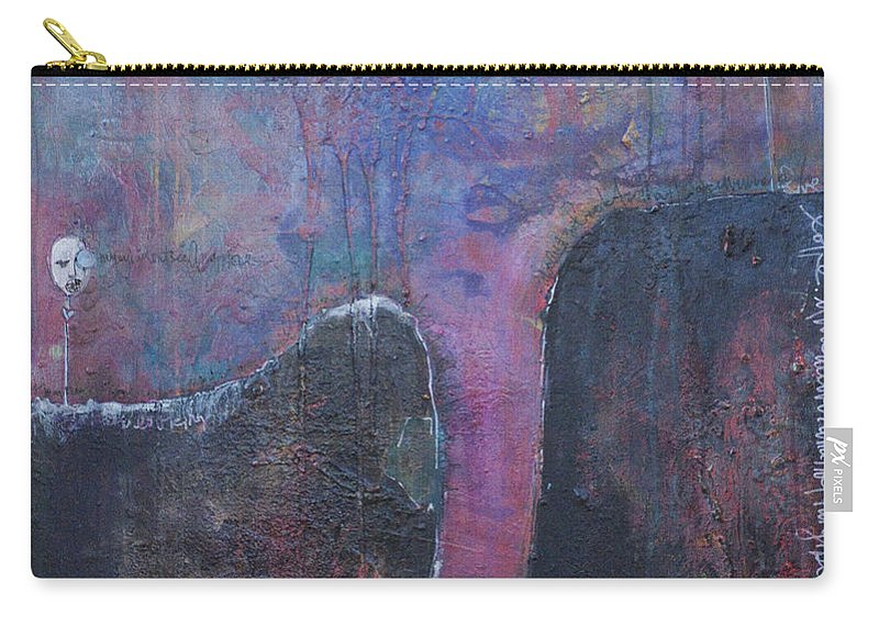 Laurie Maves Carry-all Pouch featuring the painting Lollipop Love No. 2 by Laurie Maves ART