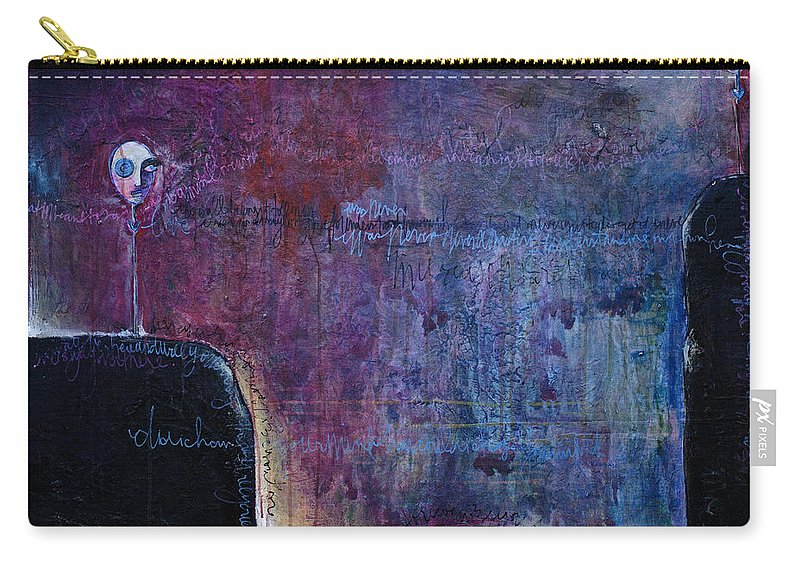 Laurie Maves Carry-all Pouch featuring the painting Lollipop Love No. 3 by Laurie Maves ART