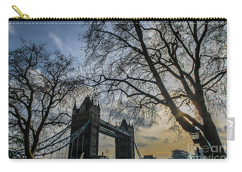 London Carry-all Pouch featuring the photograph London Bridge by Arild Lilleboe