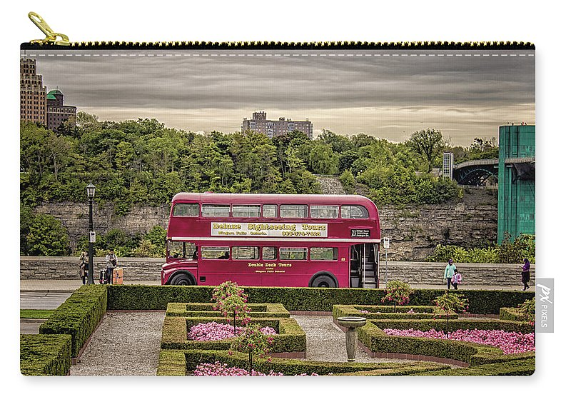 London Carry-all Pouch featuring the photograph London Bus by Martin Newman
