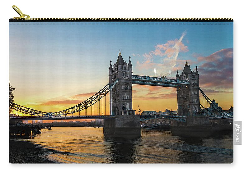 Bridge Carry-all Pouch featuring the photograph London Sunrise by Robert Stasio