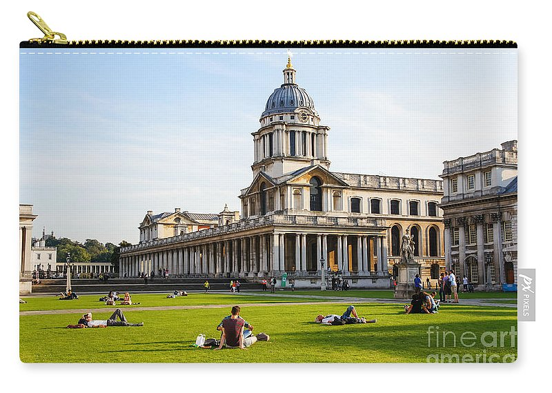 Riverside Riverbank Britain British England English Uk Europe European Holiday Vacation Carry-all Pouch featuring the photograph London University Greenwich by Marcin Rogozinski