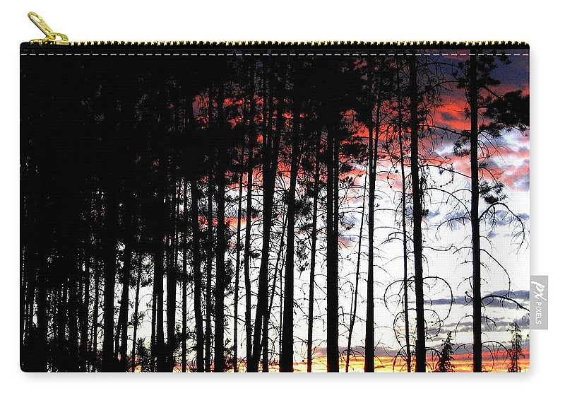 Sunset Carry-all Pouch featuring the photograph Lone Butte Sunset by Will Borden