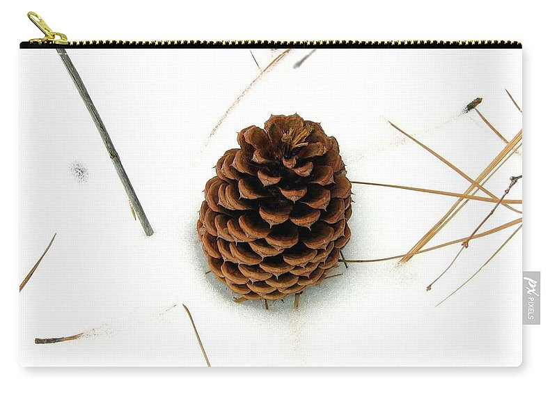 Pine Cone Carry-all Pouch featuring the photograph Lone Cone by Will Borden