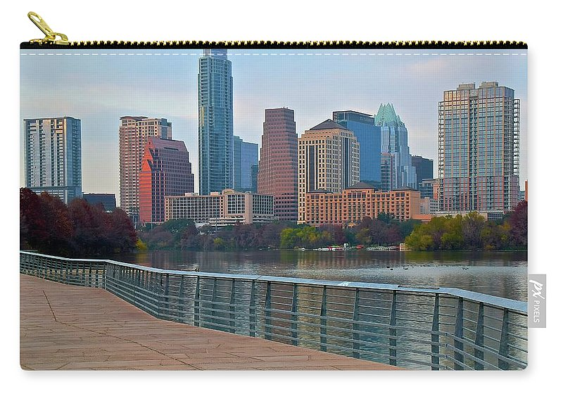 Austin Carry-all Pouch featuring the photograph Lone Star State Capitol Ahead by Frozen in Time Fine Art Photography