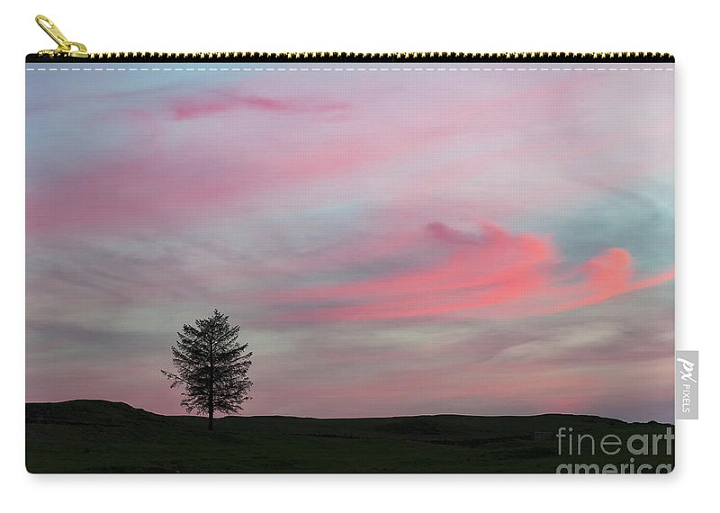 Tree Carry-all Pouch featuring the photograph Lone Tree Sunset by Alexis Manson