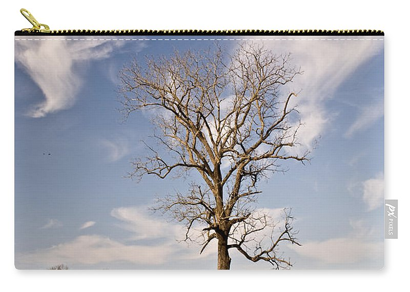 Civil Carry-all Pouch featuring the photograph Loneliness Of The Battle Field by Douglas Barnett
