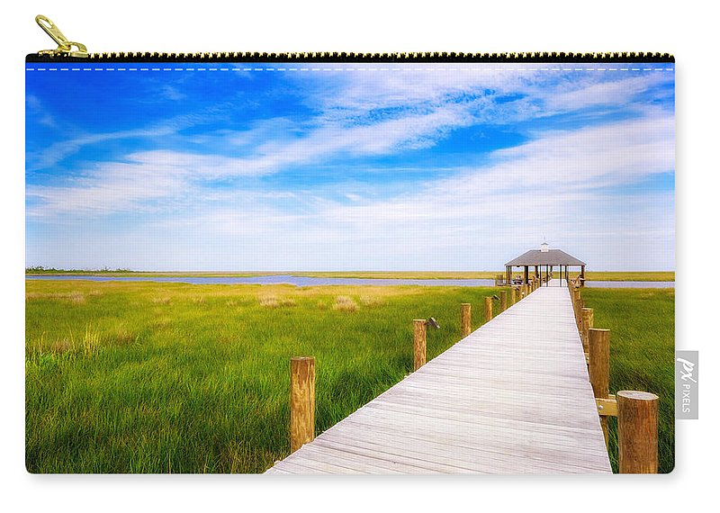 Gulf Of Mexico Carry-all Pouch featuring the photograph Lonely Pier II by Raul Rodriguez