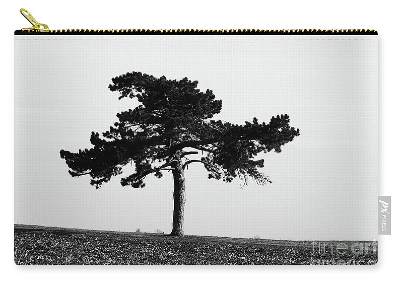 Abstract Carry-all Pouch featuring the photograph Lonely Pine by Alan Look