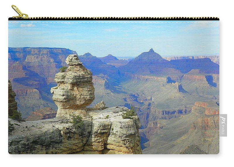 Grand Canyon Carry-all Pouch featuring the photograph Lonely Rock by Loring Laven